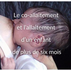 Le co-allaitement et l'allaitement d'un enfant de plus de six mois